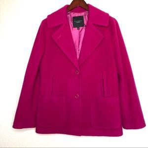 Talbots Magenta Wool Blend Coat